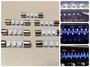 7x LED Lampen Kalt-Weiss Marantz Pioneer Sansui Sony VU cool-white lamps bulbs