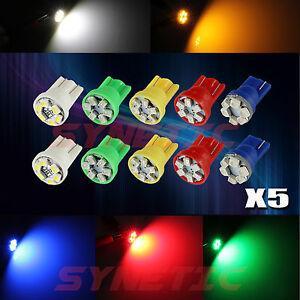 25 Mix Color 12V 6 LED T10 921 Wedge Instrument License Panel Light Bulbs Combo