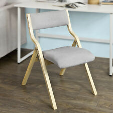 SoBuy® Wood Grey Padded Folding Chair Home Office Dining Chair, FST40-HG,UK