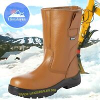 MENS LEATHER SAFETY STEEL TOE CAP RIGGER WORK BOOTS HIMALAYAN 9101 SIZE 3-13 UK