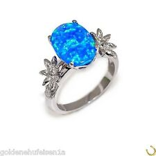 Opal Ring 925 Echt Silber 14k Weissgold Rhodiniert Geschenkidee TOP