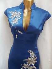 Oriental CHINESE Royal Blue Long dress 8