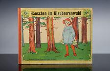 Hänschen im Blaubeerwald Märchen Bilderbuch Elsa Beskow um 1910 Originalausgabe