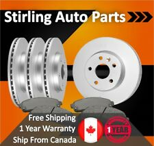 2000 2001 For Mercedes-Benz CLK430 Coated Front & Rear Brake Rotors & Pads