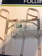 Drive,   Folding Walker Basket   Silver-tone in Color.