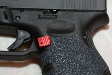 Extended RED Magazine Release catch Fits Glock Gen1 2 3 Aluminum Small Frame
