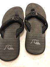 New Quiksilver Black Carver Suede 3-point Thong Mens 7 Flip-Flops Sandals