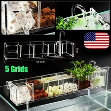 5 Grids Aquarium Fish Tank Pond External Acrylic Filter Box Home Usa Stock New