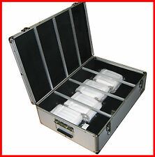 1000 Aluminum Hard CD DVD BLU-RAY CARRY n STORE Case Silver SHIP TO CANADA