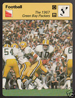 THE 1967 GREEN BAY PACKERS Bart Starr Football 1977 SPORTSCASTER CARD 07-15