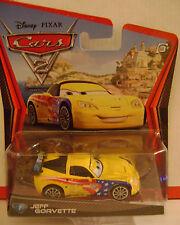 DISNEY PIXAR CARS 2 JEFF GORVETTE #7 *NEW*