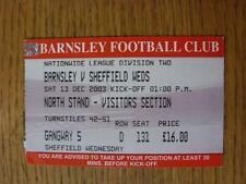 Billete De 13/12/2003: Barnsley Sheffield Wednesday V [visitantes sección]