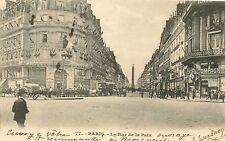 CPA PARIS LA RUE DE LA PAIX