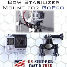 Bow Stabilizer Mount for GoPro Hero 5/4/3/2/1 Camera - Fits Most Stabilizers