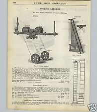 1924 PAPER AD 2 PG Myers Rolling Ceiling Ladder Coburn Store Library Bent Type