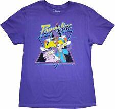 Men's Disney A Goofy Movie Powerline Retro Vintage Purple Pocket T-Shirt Tee