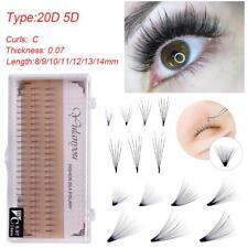 240pcs Premade 20D 0.07 C Volume Fan Lash Semi Permanent Eyelash Extensions
