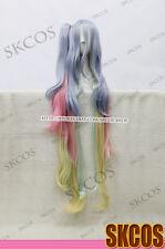 NO GAME NO LIFE Shiro Cosplay wig costume Rainbow Ver 120CM S08