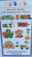 """SEW MANY DESIGNS MACHINE EMBROIDERY CD-""""LITTLE SCRIBBLERS 5 X 7 COLLECTION"""