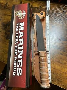 case xx marine corp leather handled fighting knife-2016