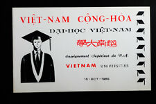 Vietnam University 1965 Specialty Saigon Stamp Folder w/ Currency Note