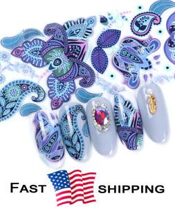 10 pcs Native Art Patterns Nail Foil Film Sticker Transfer Decals Manicure DIY