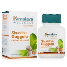 10 X Himalaya Shuddha Guggulu Herbal Regulates Lipids Pure Herbal 60 Tablets.