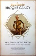 BROOKE CANDY Opulence Ltd Ed Discontinued RARE New Poster +FREE Dance Pop Poster