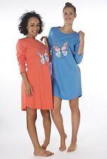 Damen-Nachthemd 2 Stück = 1 Preis (DF627CD) Gr.: 48-50 Baumwolle Jersey