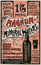 Vintage Mineral Water Advertising Poster Rolled CANVAS PRINT 24x36 in.