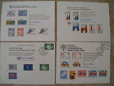 4 FDC UN STAMPS UNITED NATIONS Council Year of Child Women Disabled First Day