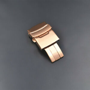 NEW Stainless Steel Double Locking Clasp Metal Buckle For 18-24 Wrist Watch