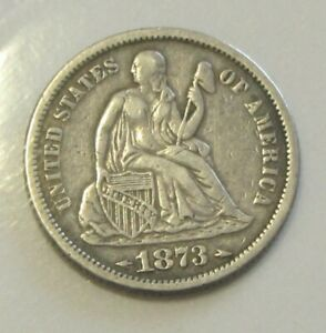 1873 With Arrows Seated Liberty Dime