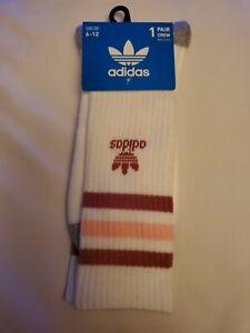 Adidas socks large white crew