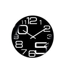 Quarzwanduhr, schwarz-Ziffernblatt aus 3mm Glas - modernes Design, Ø 30cm