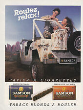 SAMSON . PAPIER A CIGARETTES / TABAC -  PUBLICITE / ADVERT. 1985