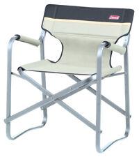 Coleman Lightweight Folding Deck Chair - Green / Khaki-khaki