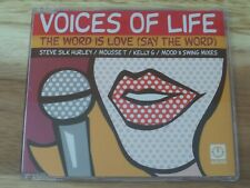 Voices Of Life - The Word Is Love (Say The Word) - CD Single 1998 - Promo
