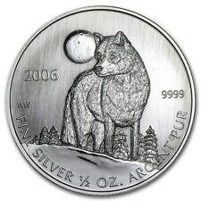 1/2 0,5 oncia 999 Argento Moneta Timber Lupo Timberwolf 2006 MOLTO RARO Rari