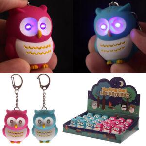 Bright Hooting Owl Novelty Key Ring led light up eyes owl