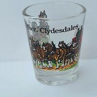 Budweiser Clydesdale shot glass