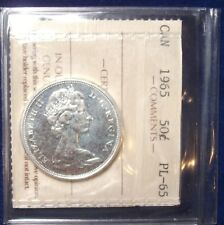 1965 Canada 50 Cents ICCS PL GEM UV 046
