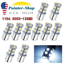 10x 7000K White 1156 BA15S 13SMD LED Turn Signal Tail Brake Light Bulbs 1141 12V