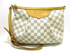 Auth LOUIS VUITTON Damier Siracusa PM N41113 Azur Shoulder Bag SP4130