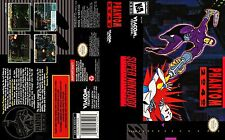 Phantom 2040 Super Nintendo Replacement SNES Box Art Case Insert Cover