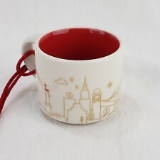 Starbucks Coffee 2014 NEW YORK Mini You Are Here Christmas Ornament Espresso