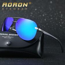 Aluminium-HD-Polarized-Sunglasses-Mens-Pilot-Sports-Eyewear-Driving-Glasses-Blue