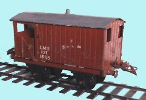 Hornby tinplate Gauge 0  Brakevan [brown]