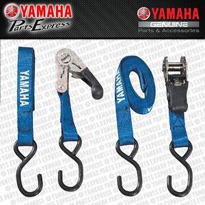 NEW GENUINE YAMAHA RATCHETING TIE DOWNS BLUE YZF YXZ YFZ R6 R1 ACC-0SS58-40-30