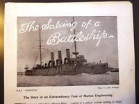 1908 Salvage HMS Gladiator Deep Sea Helmet Diving Siebe Gorman Diver Interest